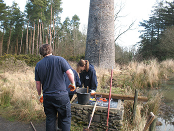 Smitham chimney young rangers at work 01